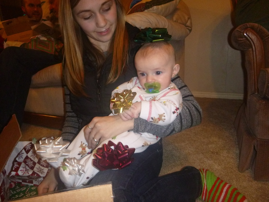 Christmas 2013 010Cass and baby Wes.JPG